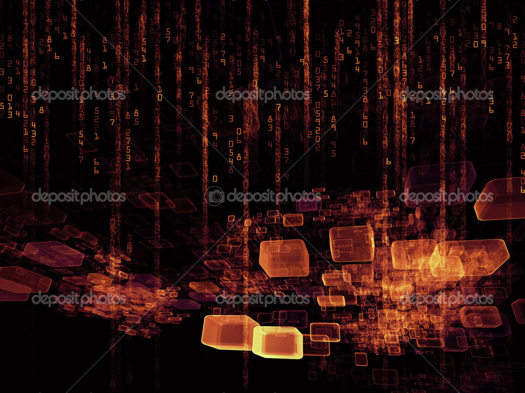 Design composed of numbers and design elements as a metaphor on the subject of computers, science, math and modern technology — Stock Photo #12691665