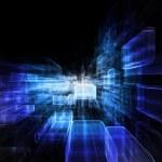 explodindo o espaço virtual — Foto Stock