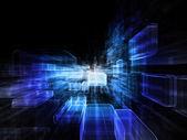 Espace virtuel qui explose — Photo