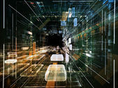Advance of Virtual Space — Stock Photo