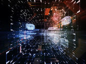 Perspectives of Virtual Space — Stock Photo