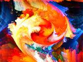 Colorful Fractal Paint — Stock fotografie