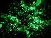 Elementos del espacio virtual — Foto de Stock