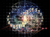 Inner Life of Numbers — Stock Photo
