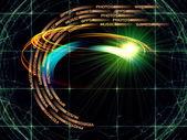 Virtual Technology Trails — Stock Photo