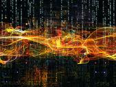 Glow of Digital Network — Stock Photo