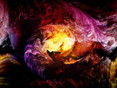 Fractal Paint Abstraction — Stock Photo