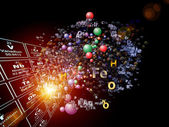 Visualization of Chemical Elements — Stock Photo