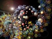 Dispiegarsi di elementi chimici — Foto Stock