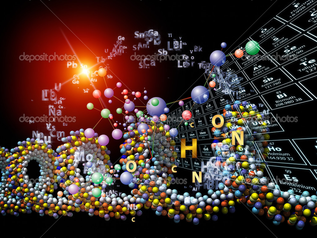 Chemical Elements Wallpaper Made of Chemical Icons