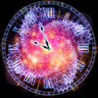 Abstract clock background - Stock Photo