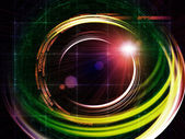 Sentieri di tecnologia virtuale — Foto Stock