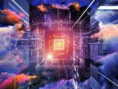 Virtual CPU — Stock Photo