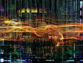 复杂的数字网络 — 图库照片