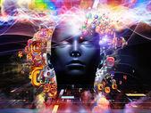 Unfolding of Digital Science — Stock Photo
