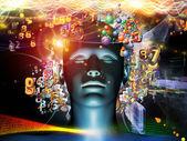 Ciência digital metafórica — Fotografia Stock