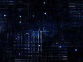 Sféry digitální sítě — Stock fotografie