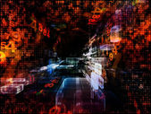 Virtual Space Evolution — Stock Photo