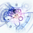 Stock Photo: Time burst