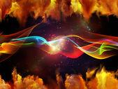 虚拟正弦波 — 图库照片