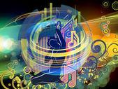 音乐元素 — 图库照片