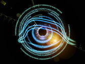 Eye of digital progress — Stock Photo