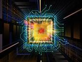 Toward Digital Processor — Stock Photo