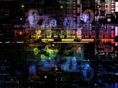 Working Digital Network — Stock Photo