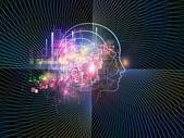 知的生命体の背景 — ストック写真