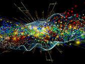 Wellen der moleküle — Stockfoto