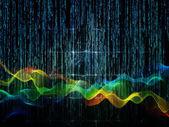 Toile de fond des flux numériques — Photo