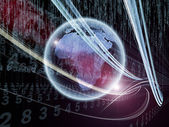 Virtual Information Stream — Stock Photo