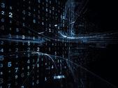 Digital Information Stream — Stock Photo