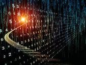 Numeric Information Stream — Stock Photo