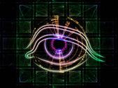 Olho de tecnologia — Fotografia Stock