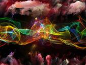 Composizione di onda sinusoidale — Foto Stock