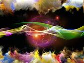 Avanzamento di onda sinusoidale — Foto Stock