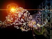 Kemiska grundämnen arrangemang — Stockfoto