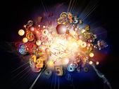 Framväxande digital teknik — Stockfoto