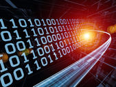 Hastigheten på information ström — Stockfoto