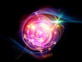 Brillante disco fractal — Foto de Stock