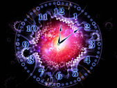 Clock backdrop — Foto Stock