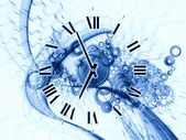 Surreal clock concept — Stockfoto