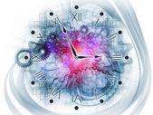 シュールな時計のコンセプト — ストック写真