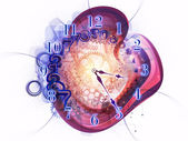 Abstract clock — Stockfoto