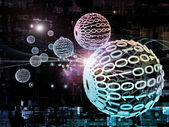 Elemente des digitalen Netzes — Stockfoto