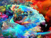 Dance of Fractal Paint — Stock Photo