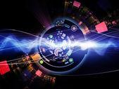 Unfolding of Digital Processing — Стоковое фото