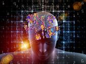 Digital Thinking Composition — Stock Photo