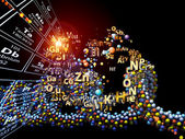 Unfolding of Chemical Elements — Stock Photo